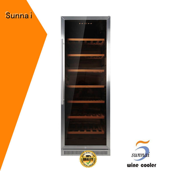 Sunnai silver under counter dual zone wine fridge manufacturer for indoor