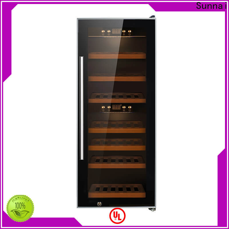 Sunnai refrigerator 18 bottle wine cooler wholesale for home
