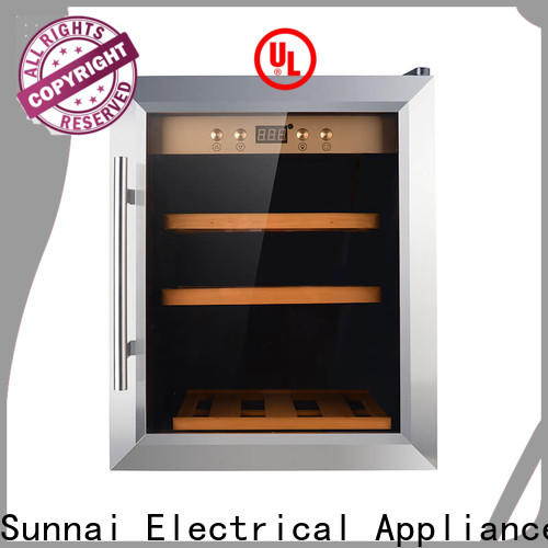 Sunnai online wood wine refrigerator refrigerator for home