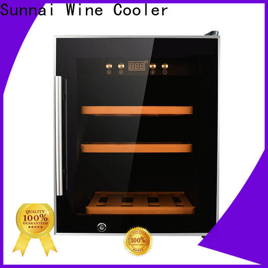 high quality dual zone wine cooler cabinet cooler supplier for home