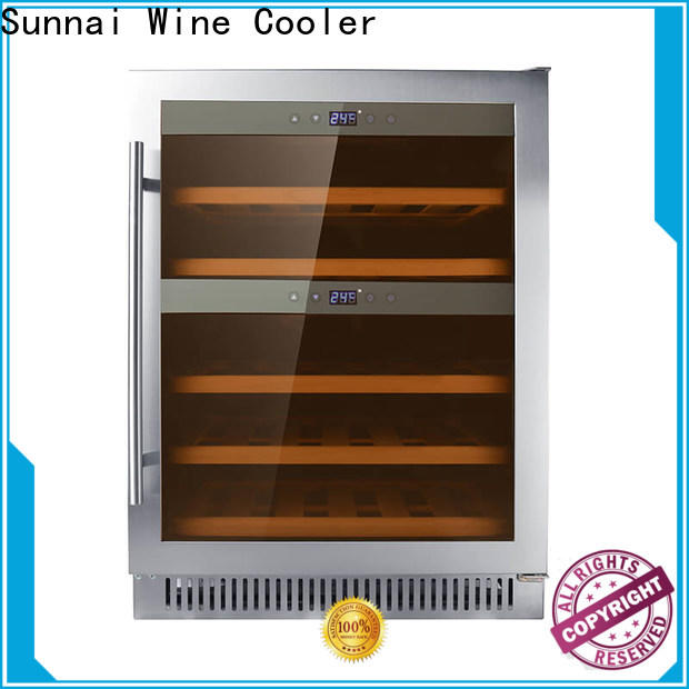 double double doors wine fridge silver series for home