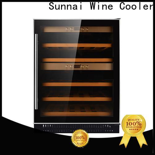 high quality under counter wine fridge black manufacturer for home