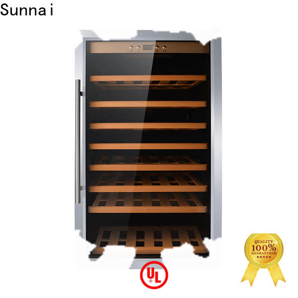 Sunnai fridge american style fridge with wine cooler supplier for home