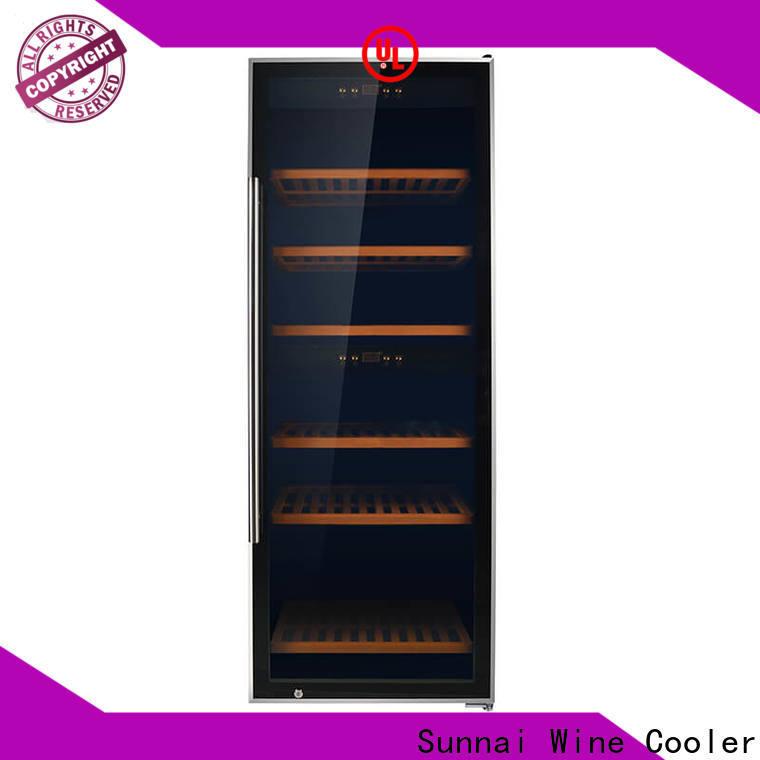 Sunnai chiller best single zone wine refrigerator manufacturer for work station