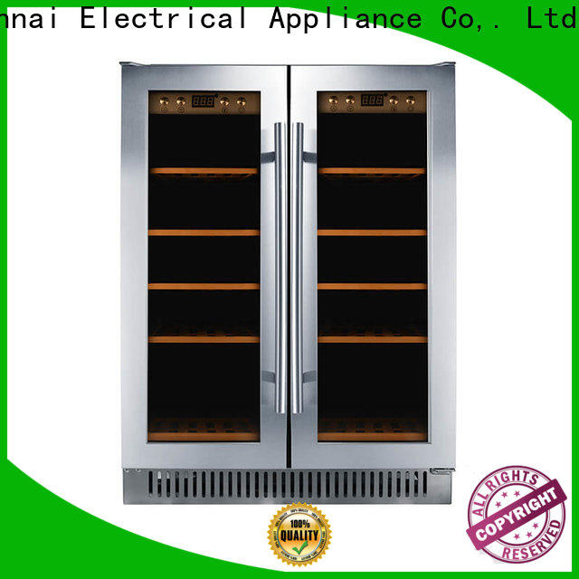 Sunnai high quality black stainless steel wine fridge wholesale for indoor
