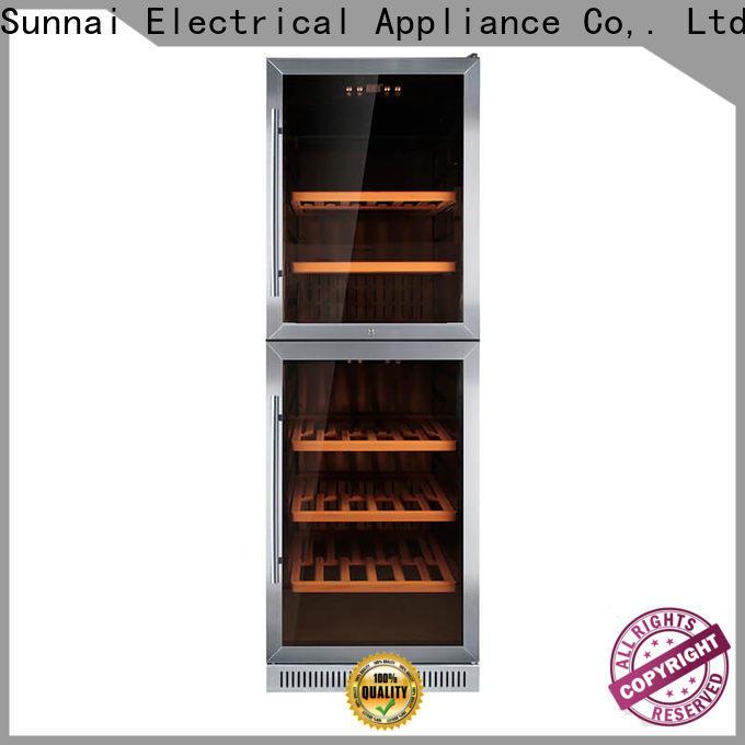 Sunnai single under counter dual zone wine fridge manufacturer for indoor