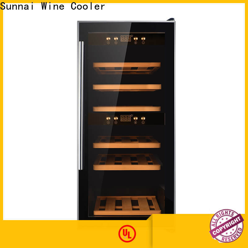 safety dual zone built in wine cooler stainless product for indoor