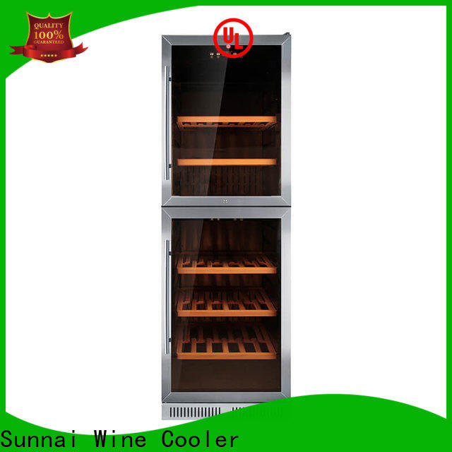 Sunnai dual best under counter wine fridge manufacturer for indoor