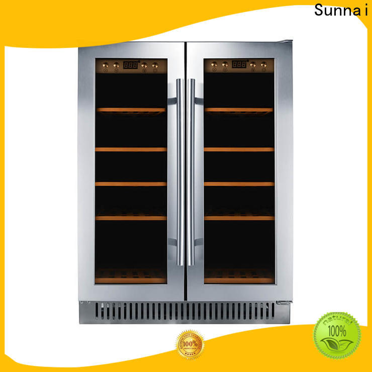 Sunnai single undercounter thermoelectric wine cooler wholesale for shop