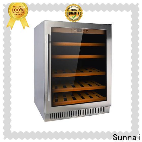 Sunnai durable best compressor wine cooler manufacturer for work station