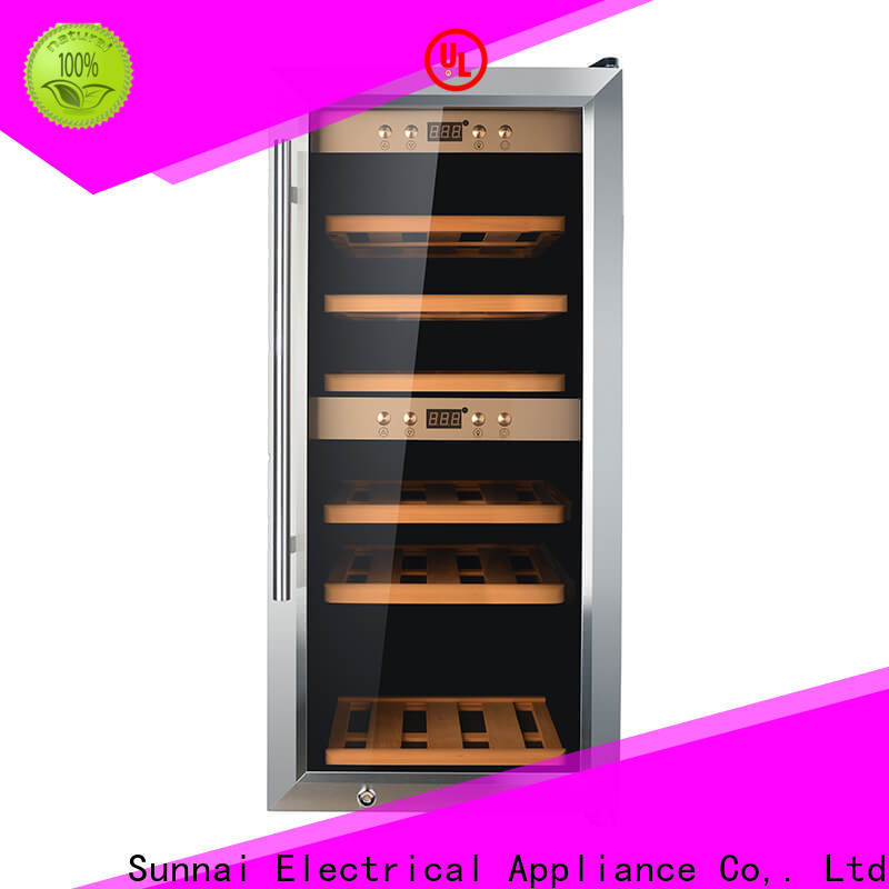 Sunnai dual compact wine chiller manufacturer for work station