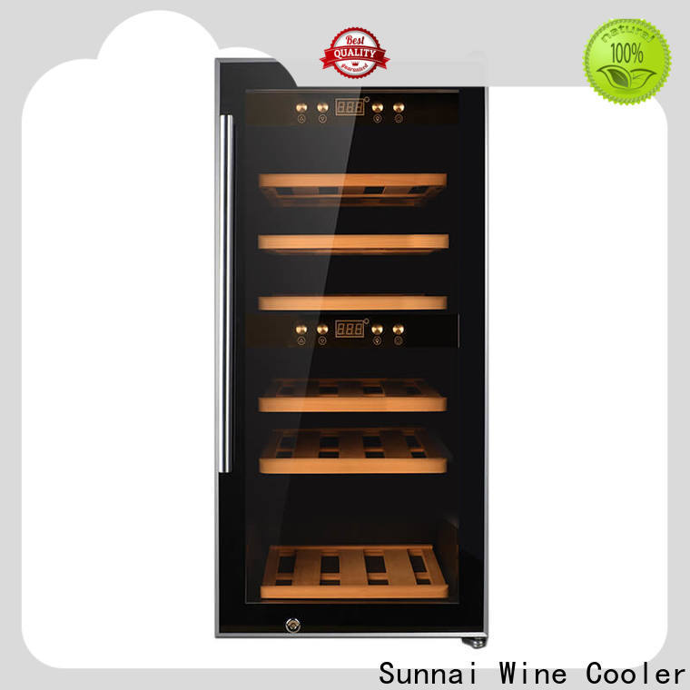 Sunnai professional dual zone undercounter wine fridge refrigerator for indoor