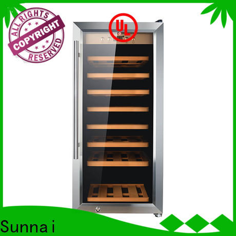 Sunnai dual narrow wine refrigerator manufacturer for work station