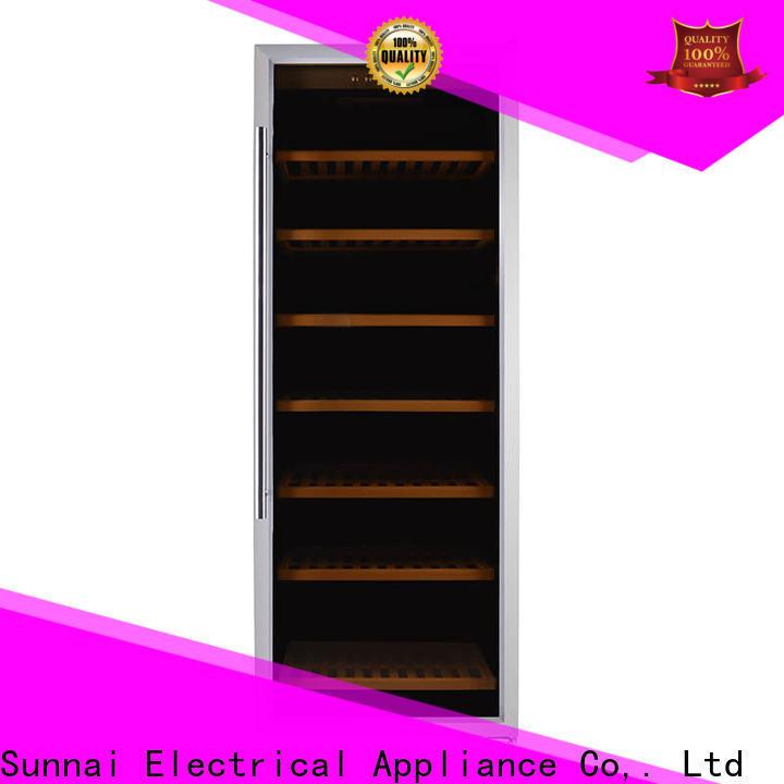 Sunnai single freestanding wine cooler under cabinet refrigerator for work station