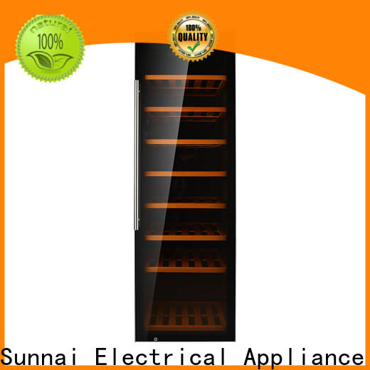 Sunnai professional black wine cooler series for shop