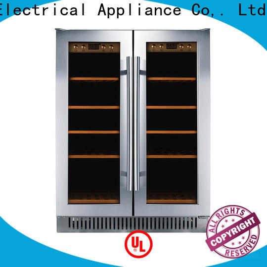 Sunnai professional under counter dual zone wine fridge cooler for home