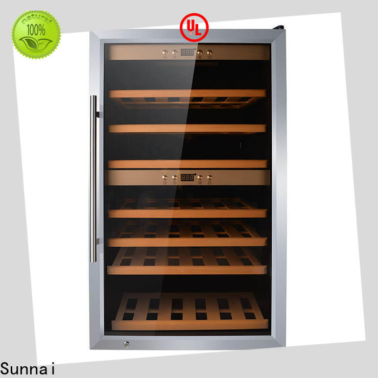 Sunnai refrigerator 18 inch undercounter wine cooler manufacturer for work station