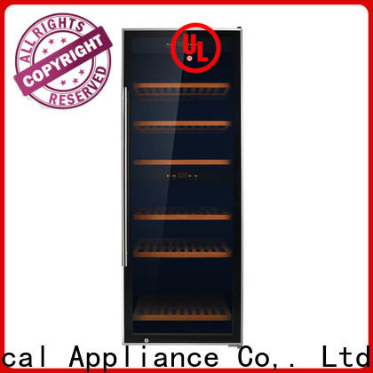 safety single zone wine cooler panel supplier for work station