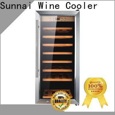 safety stainless steel door wine fridge cooler supplier for shop