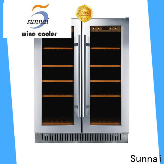 durable dual zone undercounter wine cooler bottles series for home