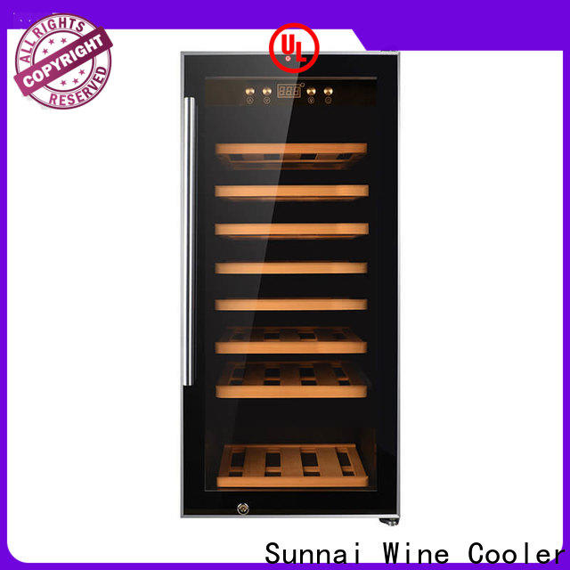 Sunnai silver black wine cooler supplier for shop