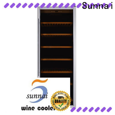 Sunnai freestanding thermoelectric wine cooler undercounter refrigerator for work station