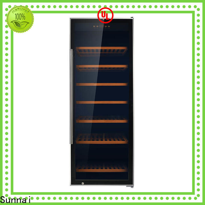 safety thin wine cooler chiller series for work station