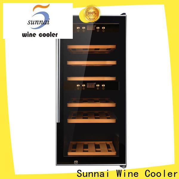 black narrow wine cooler silver supplier for work station