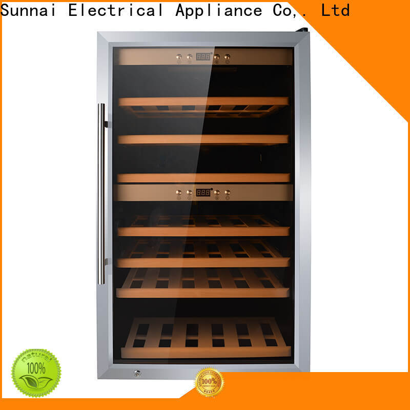 Sunnai safety 17 inch wine cooler refrigerator for shop