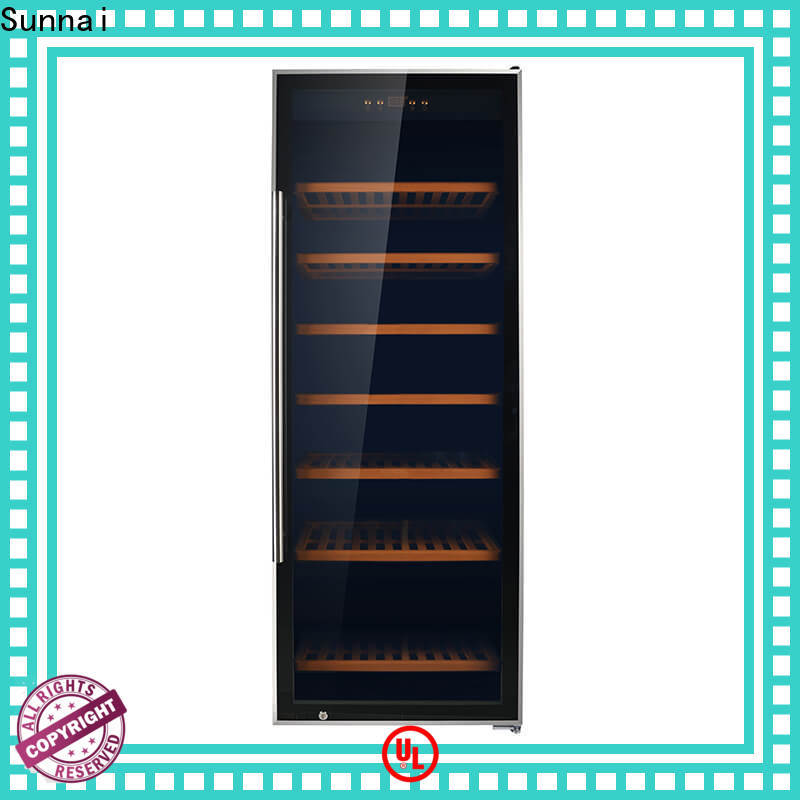 Sunnai table black wine cooler refrigerator for shop