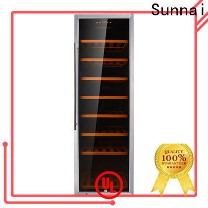 black 21 inch undercounter wine cooler steel manufacturer for work station