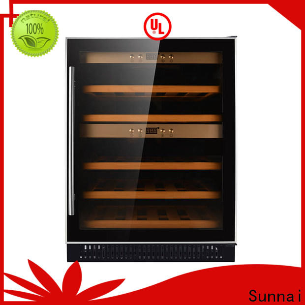 Sunnai durable compressor wine coolers manufacturer for work station