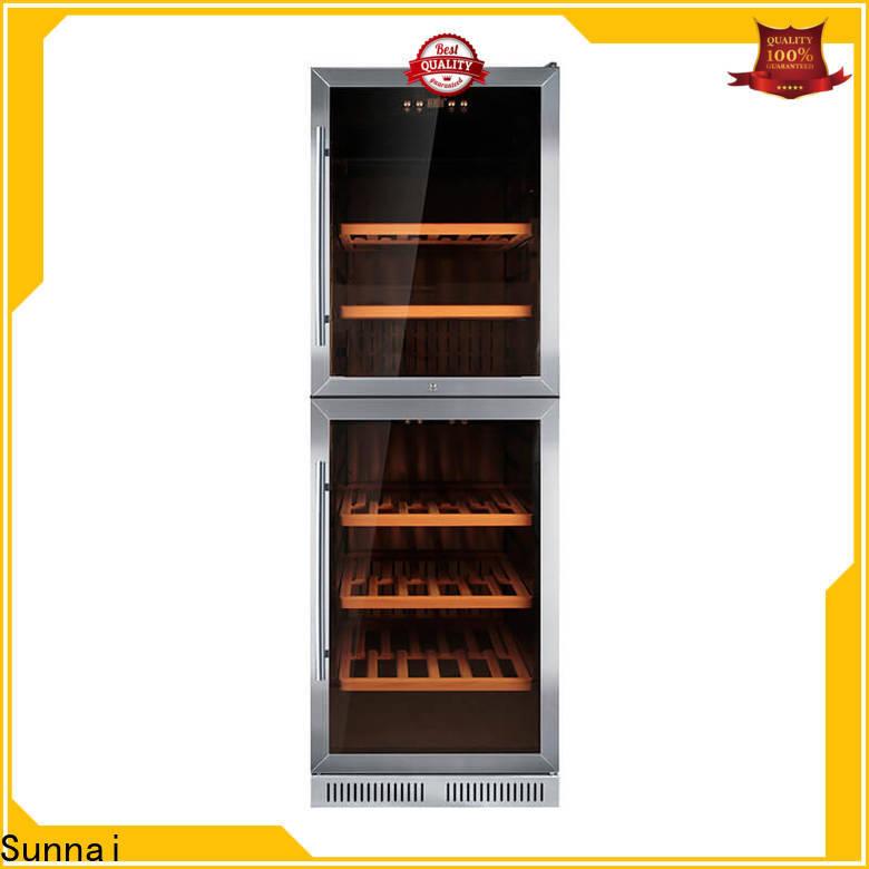 Sunnai silver dual zone undercounter wine cooler compressor for indoor