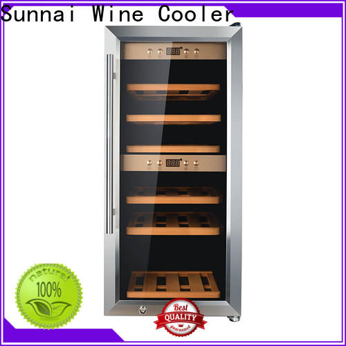 Sunnai single slim wine cooler supplier for indoor