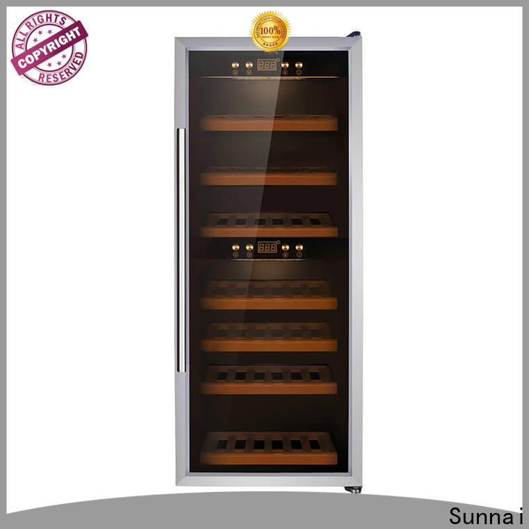 Sunnai durable dual zone wine cooler cabinet product for work station
