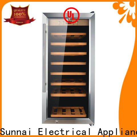 Sunnai dual wine chillers and coolers refrigerator for work station