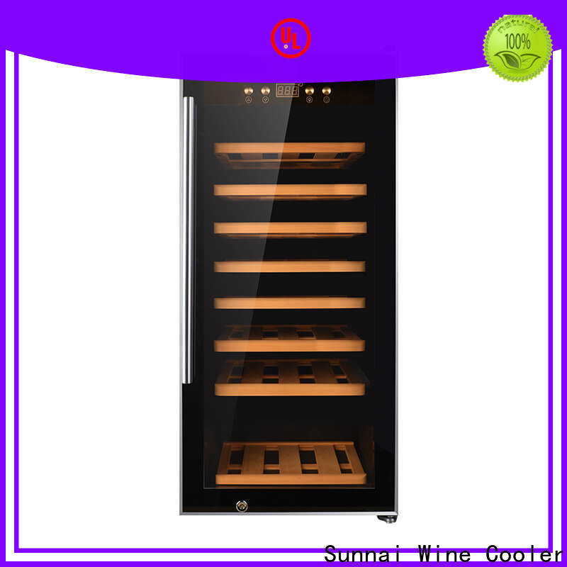 Sunnai single electric wine cooler cabinet supplier for home