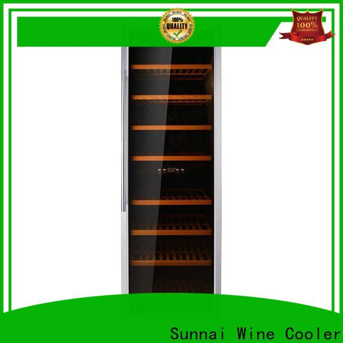 Sunnai dual tall thin wine cooler supplier for work station