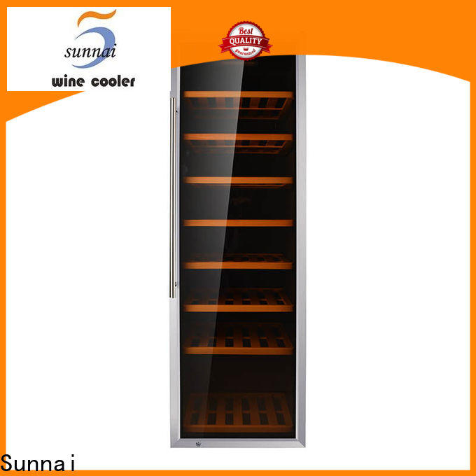 high quality narrow under counter wine fridge wood wholesale for indoor