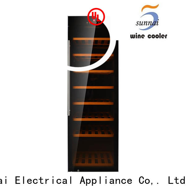 Sunnai beech 6 bottle wine refrigerator series for indoor