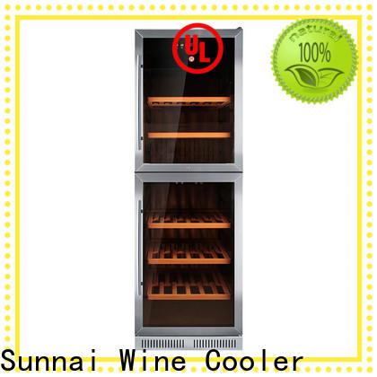 Sunnai door cheap under counter wine cooler compressor for shop