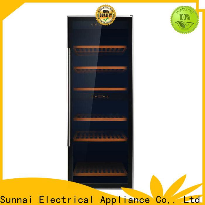 Sunnai single 6 bottle wine refrigerator wholesale for work station