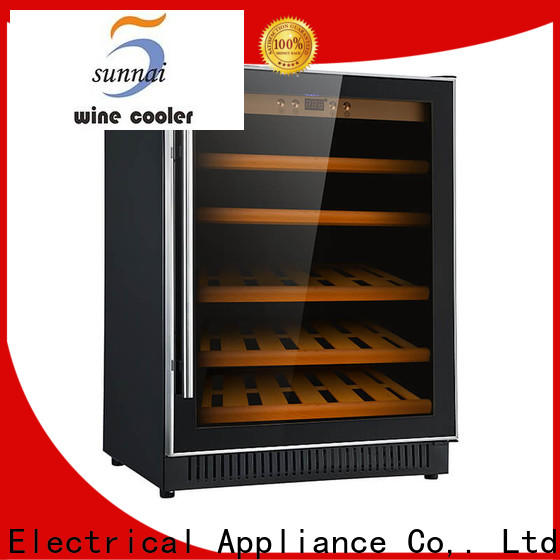 Sunnai double 12 bottle wine cooler under cabinet compressor for home