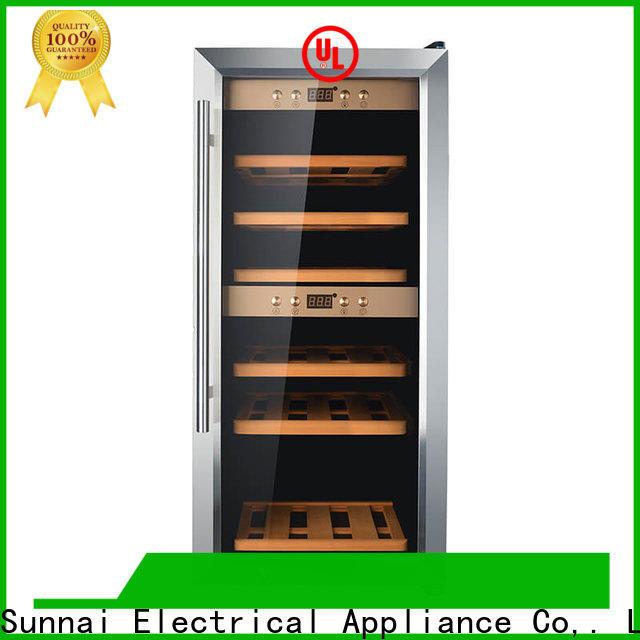 high quality wine cooler fridge dual zone fridge supplier for shop