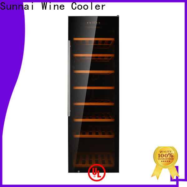 Sunnai black slimline wine fridges product for work station