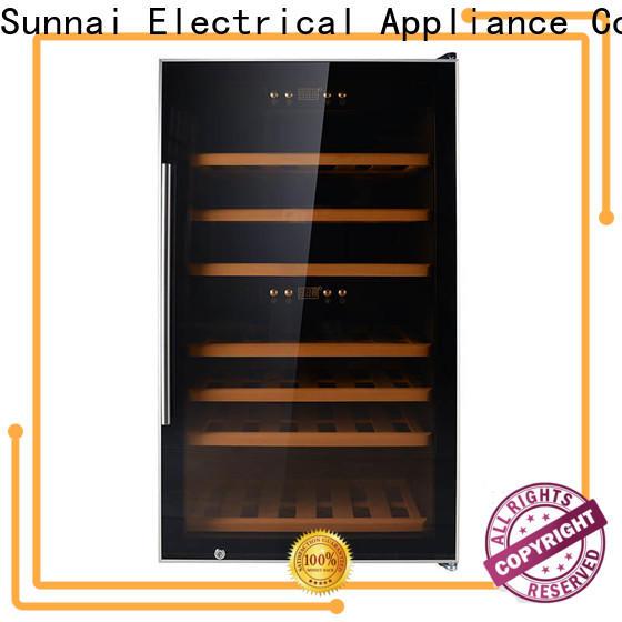Sunnai dual wine chiller refrigerator manufacturer for work station