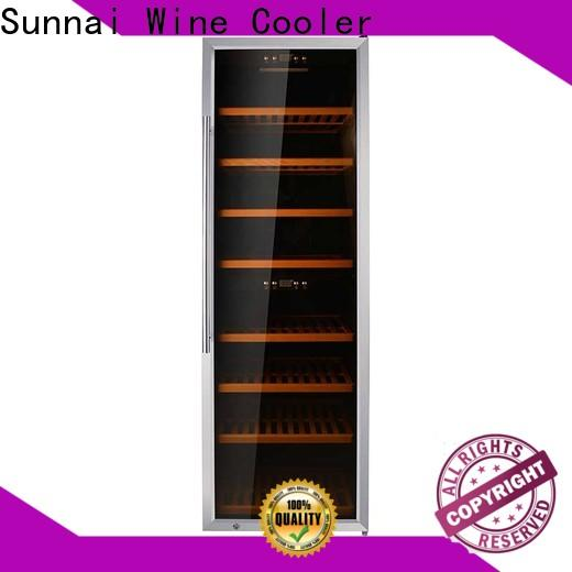 Sunnai fridge tall wine cooler slim wholesale for shop