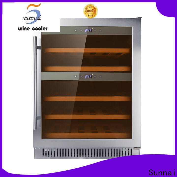 Sunnai compressor double doors wine cooler series for shop