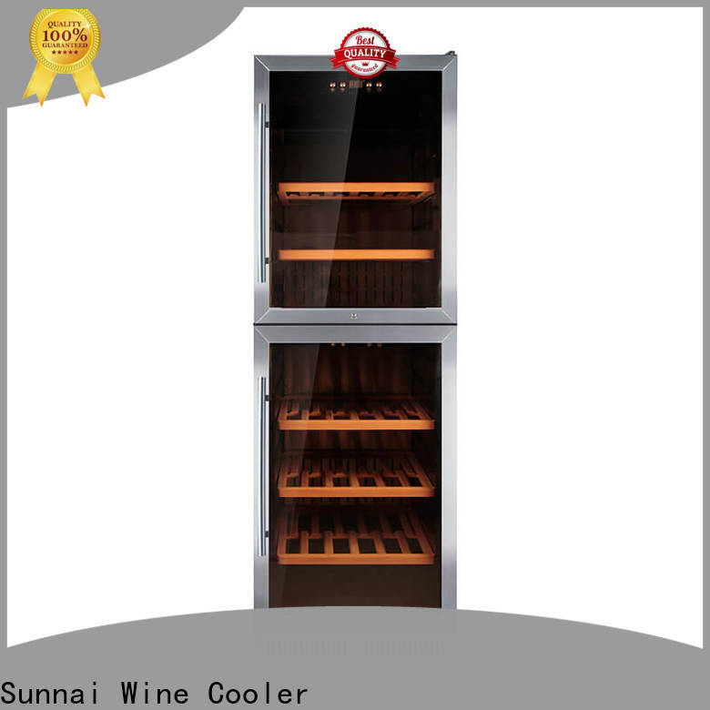 Sunnai refrigerator double doors wine cooler cooler for work station