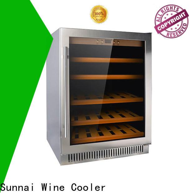 Sunnai panel single zone wine fridge manufacturer for work station